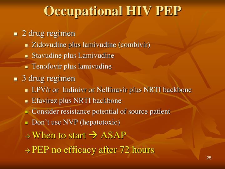 Occupational HIV PEP