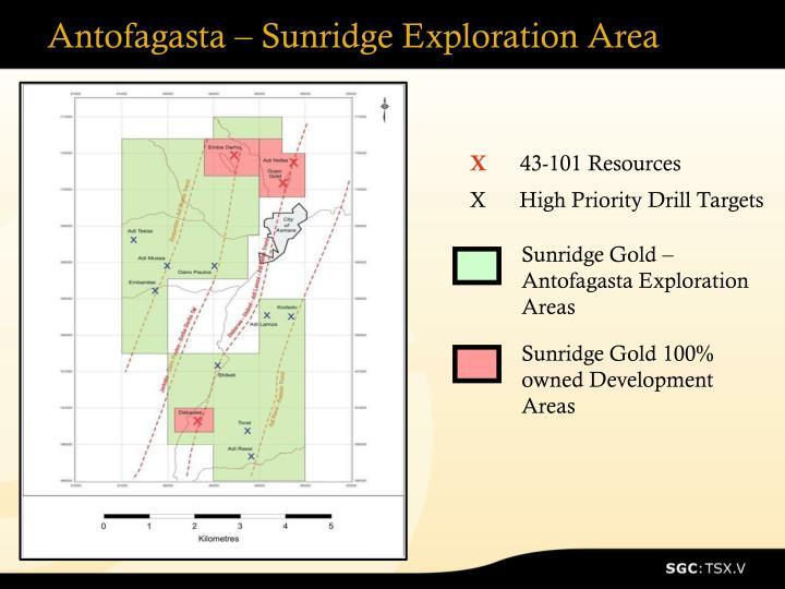 Antofagasta – Sunridge Exploration Area