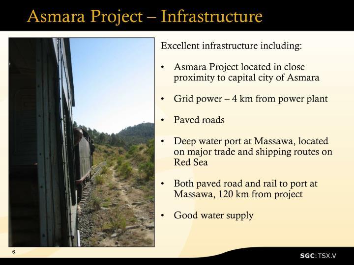 Asmara Project – Infrastructure