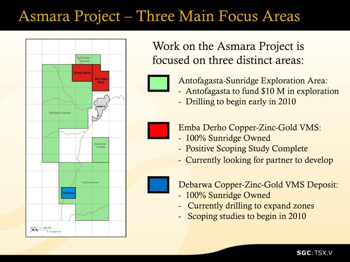 Asmara Project – Three Main Focus Areas