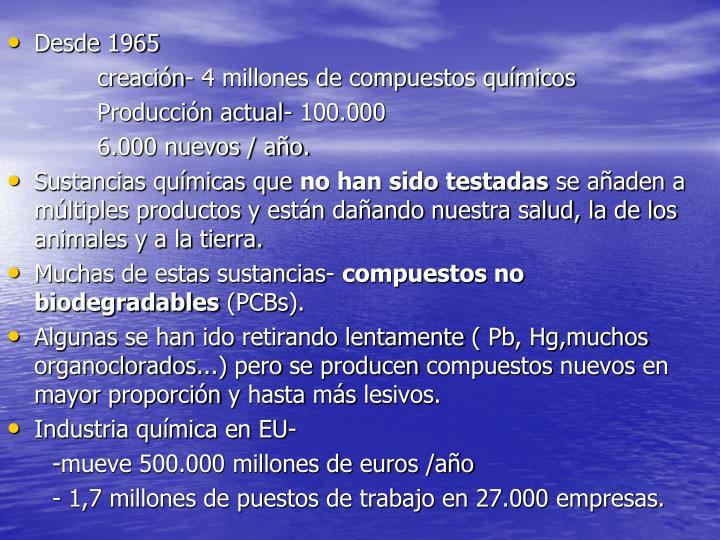 Desde 1965