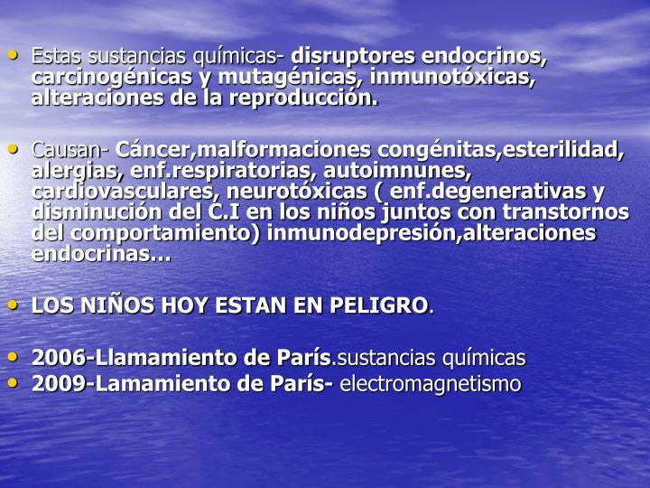 Estas sustancias químicas-