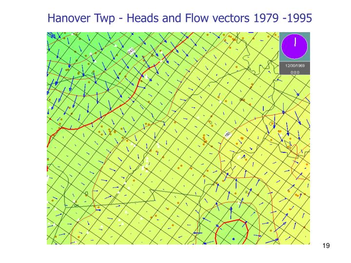 Hanover Twp - Heads and Flow vectors 1979 -1995