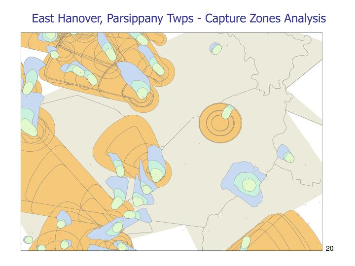 East Hanover, Parsippany Twps - Capture Zones Analysis