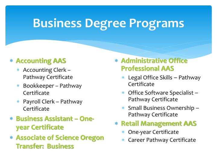 Business degree programs