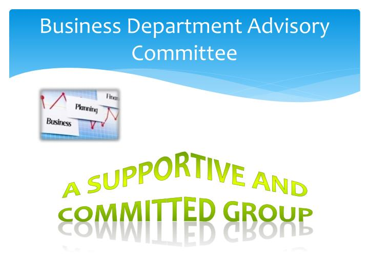 Business Department Advisory Committee
