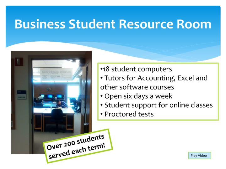 Business Student Resource Room