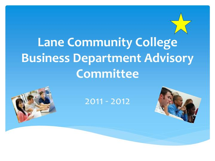 Lane community college business department advisory committee