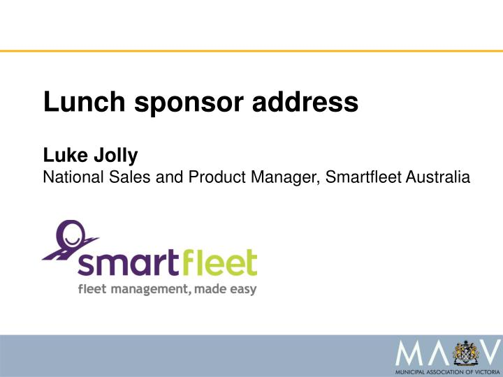 Lunch sponsor address