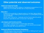 other potential and observed outcomes