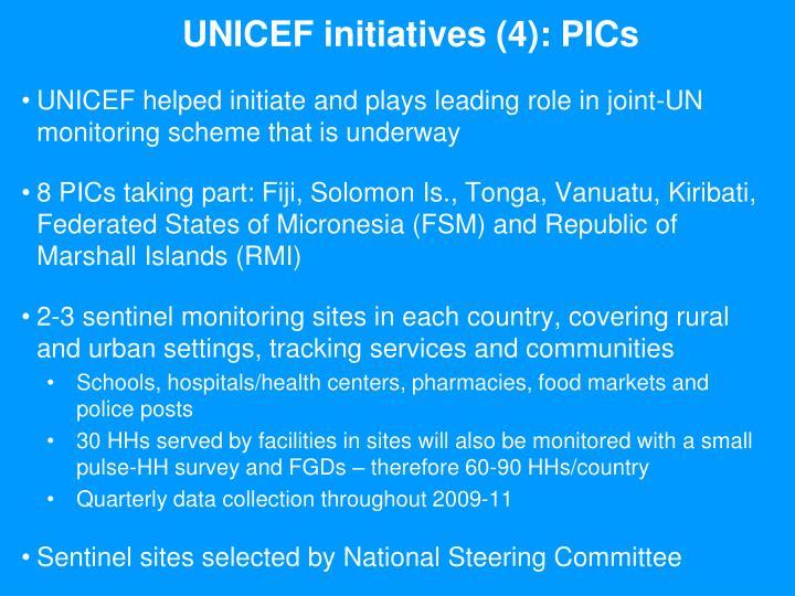 UNICEF initiatives (4): PICs