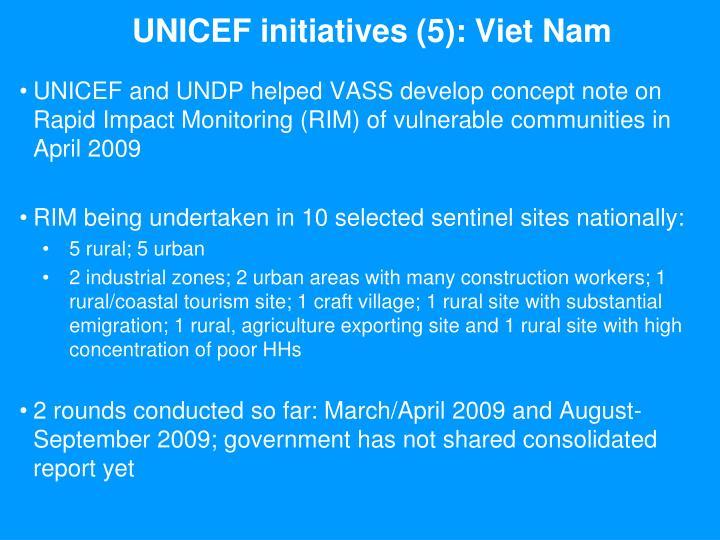 UNICEF initiatives (5): Viet Nam