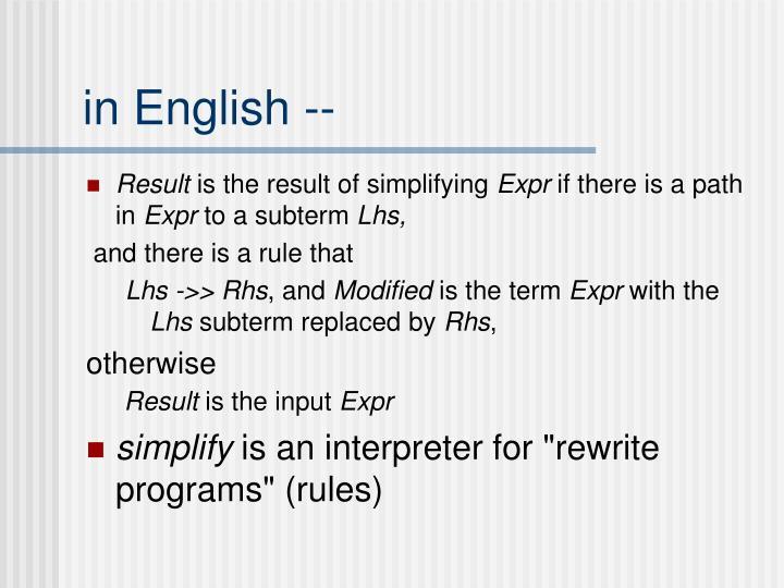 in English --