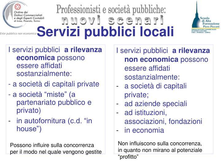 Servizi pubblici locali