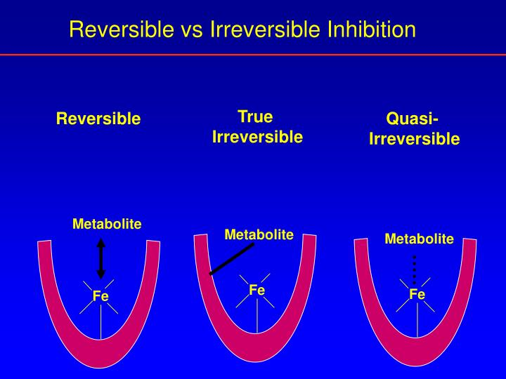 Reversible vs Irreversible Inhibition