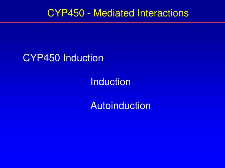 CYP450 - Mediated Interactions