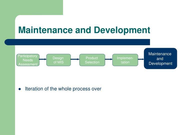 Maintenance and Development