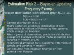 estimation risk 2 bayesian updating frequency example