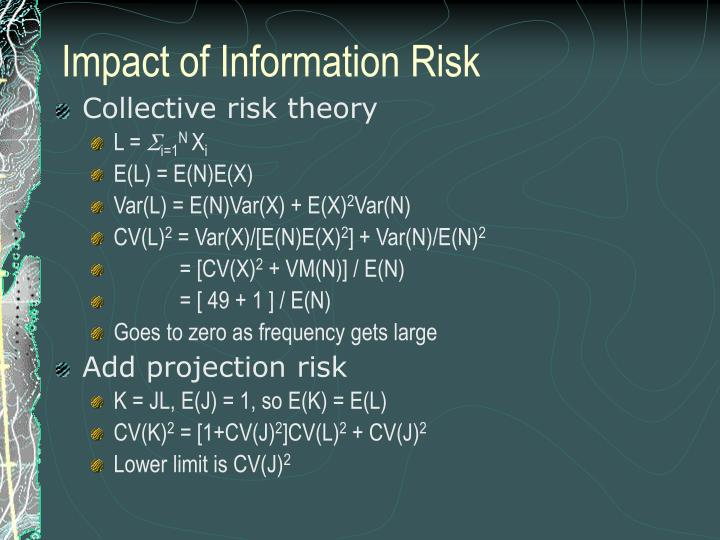 Impact of Information Risk