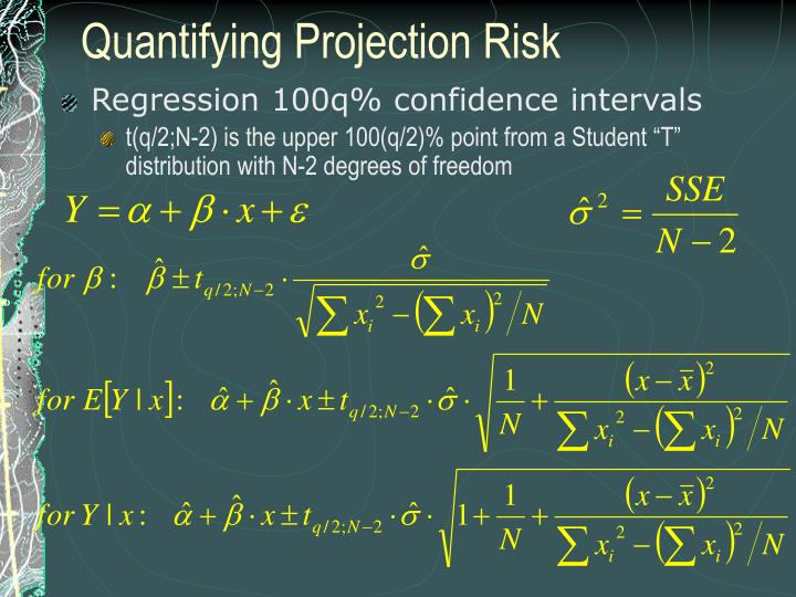 Quantifying Projection Risk