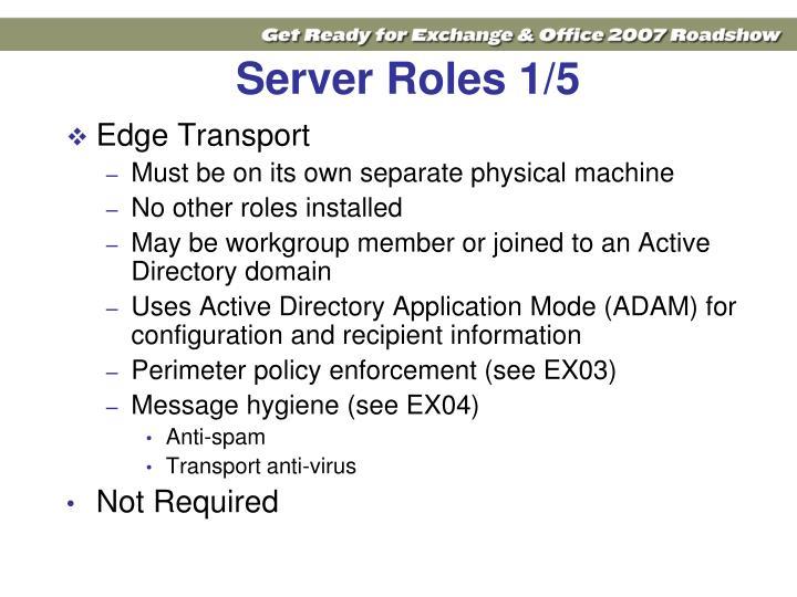 Server Roles 1/5