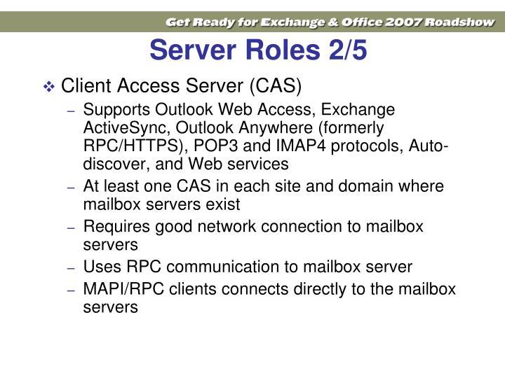 Server Roles 2/5