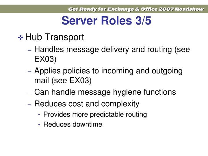Server Roles 3/5