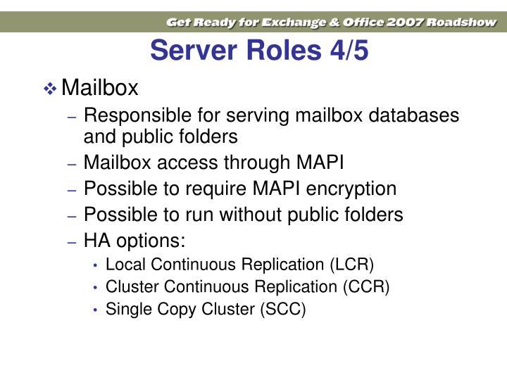 Server Roles 4/5