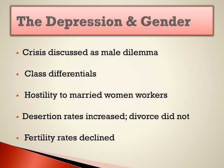 The Depression & Gender
