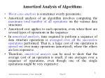 amortized analysis of algorithm s