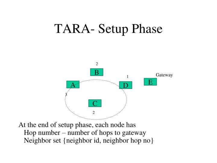 TARA- Setup Phase