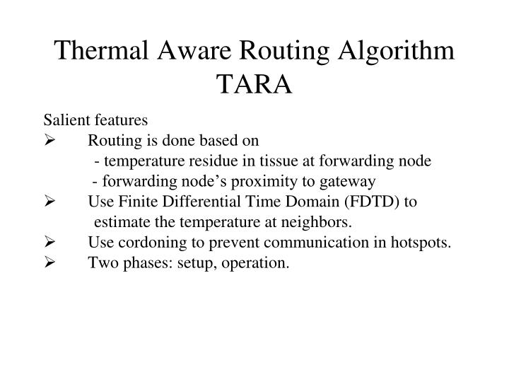 Thermal Aware Routing Algorithm