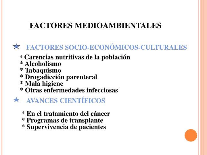 FACTORES MEDIOAMBIENTALES