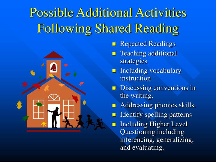 Possible Additional Activities Following Shared Reading