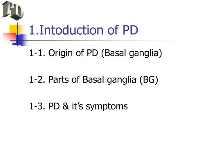 1 intoduction of pd