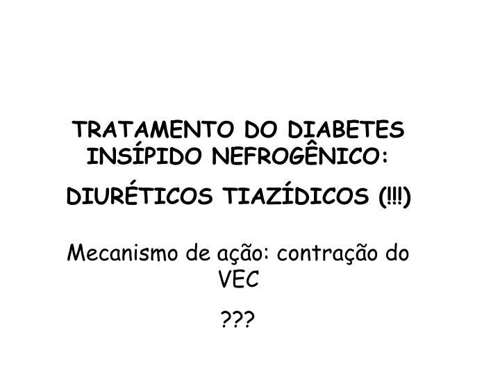 TRATAMENTO DO DIABETES INSÍPIDO NEFROGÊNICO: