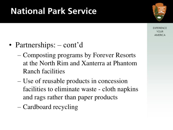 Partnerships: – cont'd