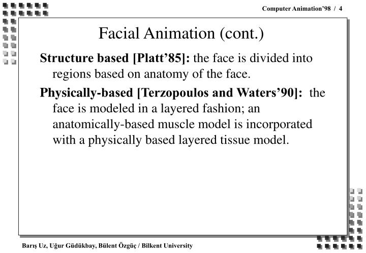 Facial Animation (cont.)