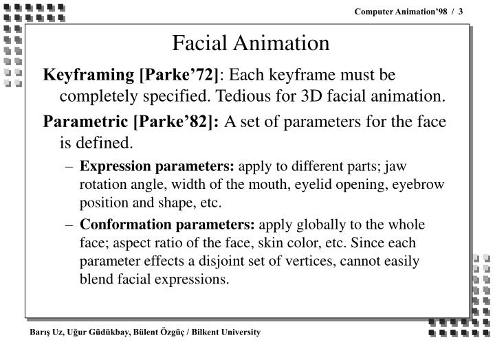 Facial animation