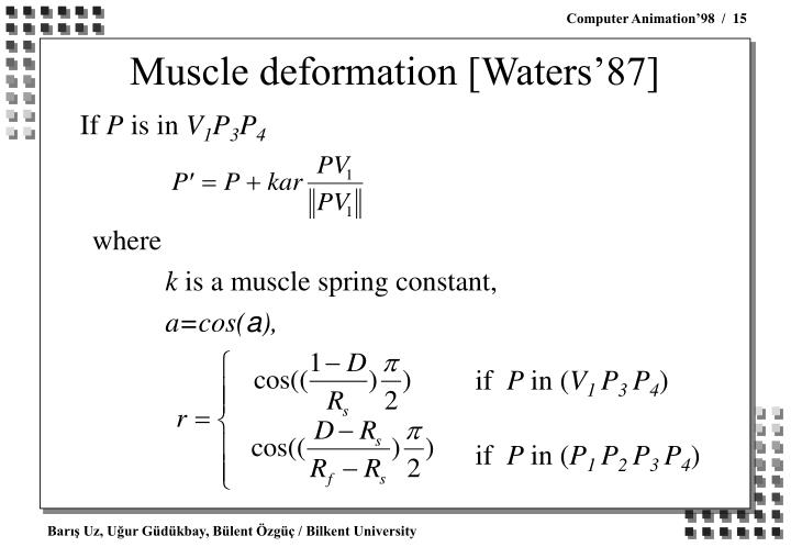 Muscle deformation [Waters'87]