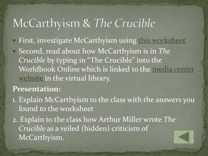McCarthyism &