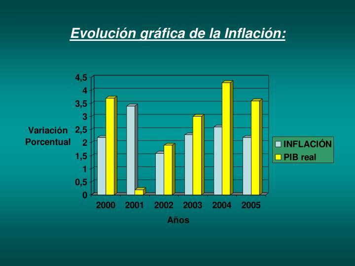 Evolución gráfica de la Inflación: