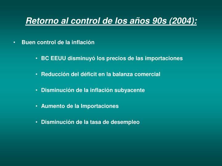 Retorno al control de los años 90s (2004):