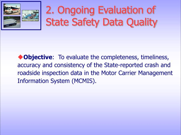 2. Ongoing Evaluation of State Safety Data Quality