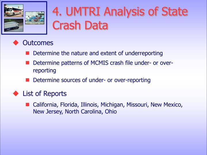 4. UMTRI Analysis of State Crash Data