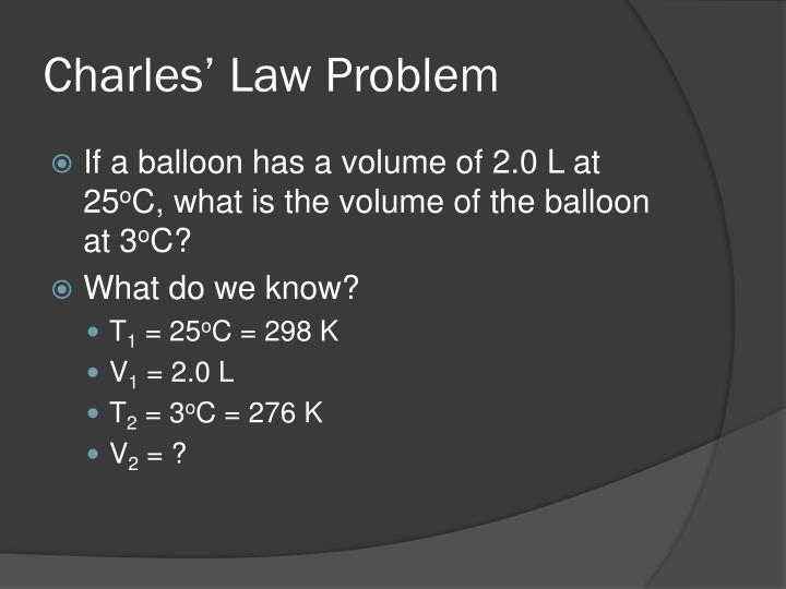 Charles' Law Problem