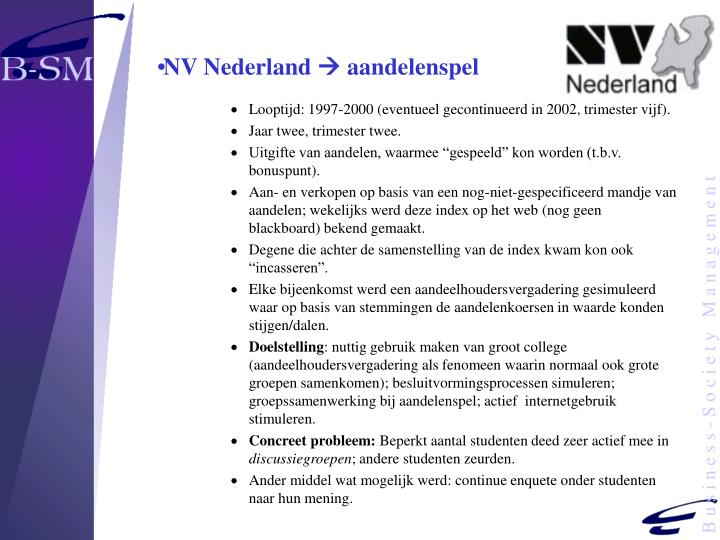 NV Nederland
