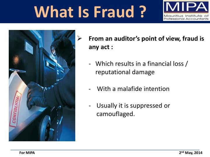 What Is Fraud ?