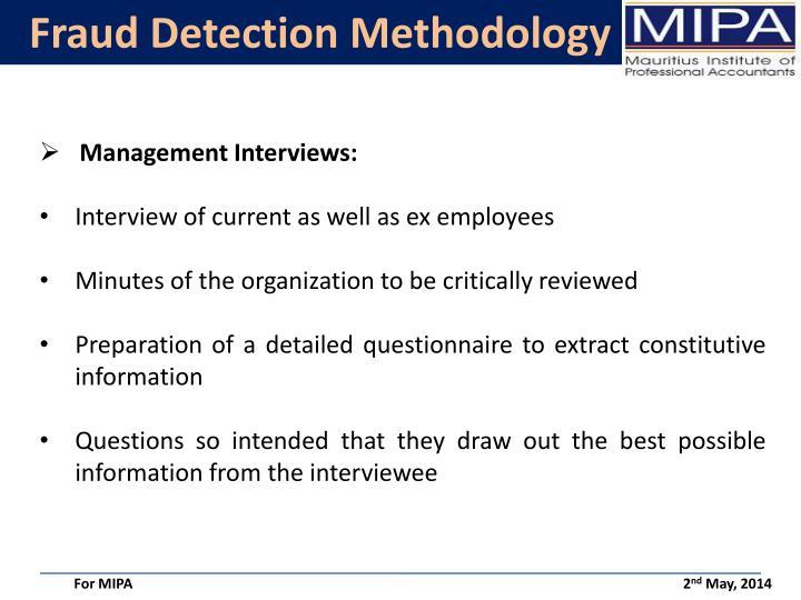 Fraud Detection Methodology