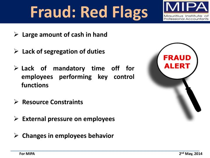 Fraud: Red Flags